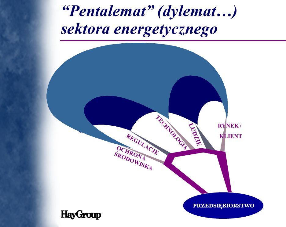 RYNEK / KLIENT REGULACJE TECHNOLOGIA LUDZIE OCHRONA ŚRODOWISKA PRZEDSIĘBIORSTWO Pentalemat (dylemat…) sektora energetycznego