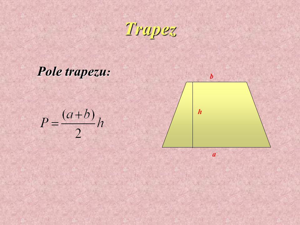 Równoległobok a b e f Pole i obwód rombu: Obw = 2(a+b)