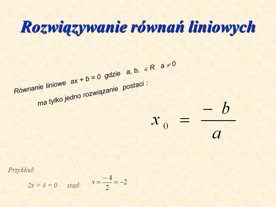 Własności funkcji liniowej Rosnąca gdy a > 0 Rosnąca gdy a > 0 Malejąca gdy a < 0 Malejąca gdy a < 0 Stała gdy a = 0 Stała gdy a = 0 Funkcja liniowa f
