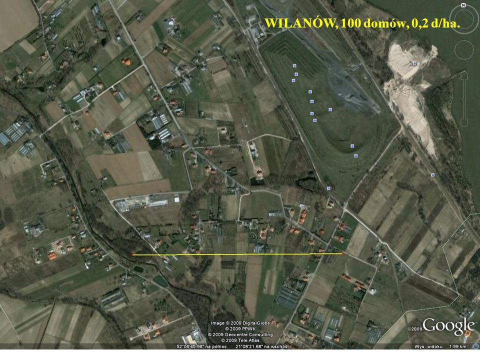 WILANÓW, 100 domów, 0,2 d/ha.