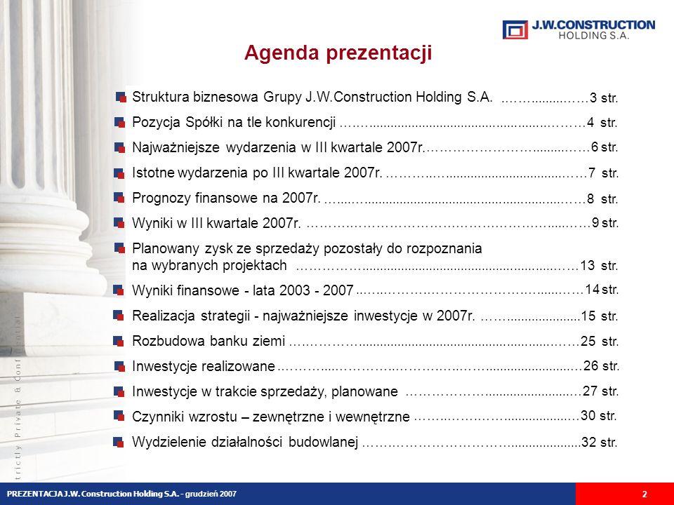 S t r i c t l y P r i v a t e & C o n f i d e n t i a l Inwestycje poza Warszawą Trójmiasto – Osiedle Leśne Gdynia, ul.