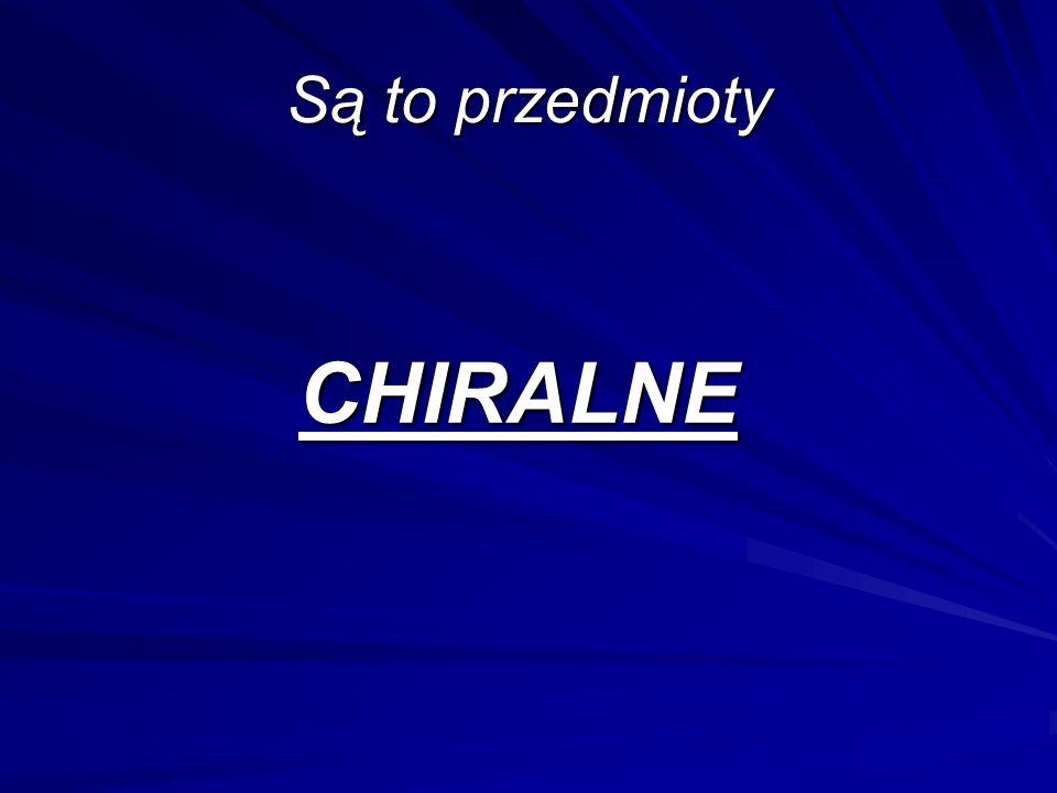 Są to przedmioty CHIRALNE
