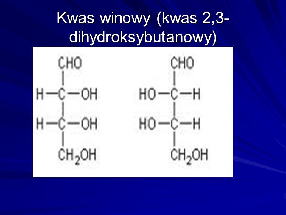 Kwas winowy (kwas 2,3- dihydroksybutanowy)