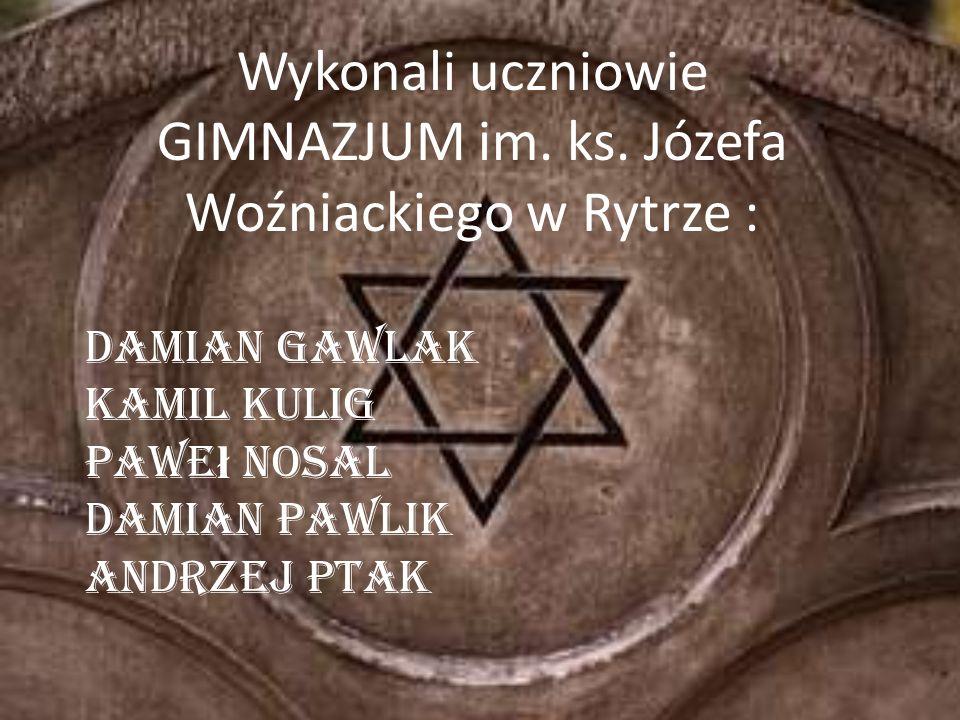 Wykonali uczniowie GIMNAZJUM im. ks. Józefa Woźniackiego w Rytrze : Damian Gawlak Kamil Kulig Pawe ł Nosal Damian Pawlik Andrzej Ptak