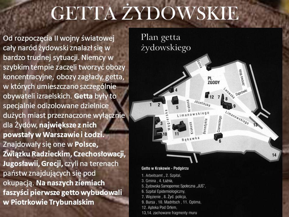 Od rozpoczęcia II wojny światowej cały naród żydowski znalazł się w bardzo trudnej sytuacji. Niemcy w szybkim tempie zaczęli tworzyć obozy koncentracy