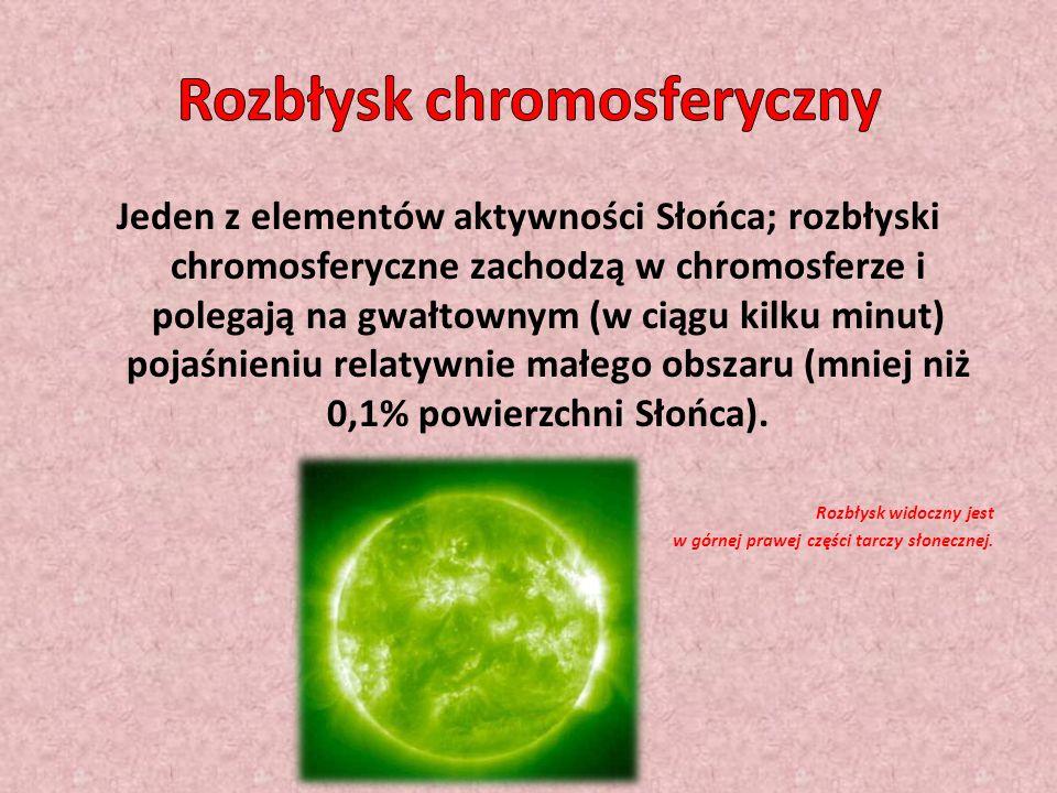 Jeden z elementów aktywności Słońca; rozbłyski chromosferyczne zachodzą w chromosferze i polegają na gwałtownym (w ciągu kilku minut) pojaśnieniu relatywnie małego obszaru (mniej niż 0,1% powierzchni Słońca).