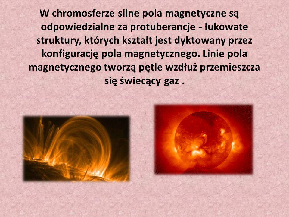 Widoczny ciemniejszy obszar na powierzchni Słońca (fotosfera), którego cechami są temp.