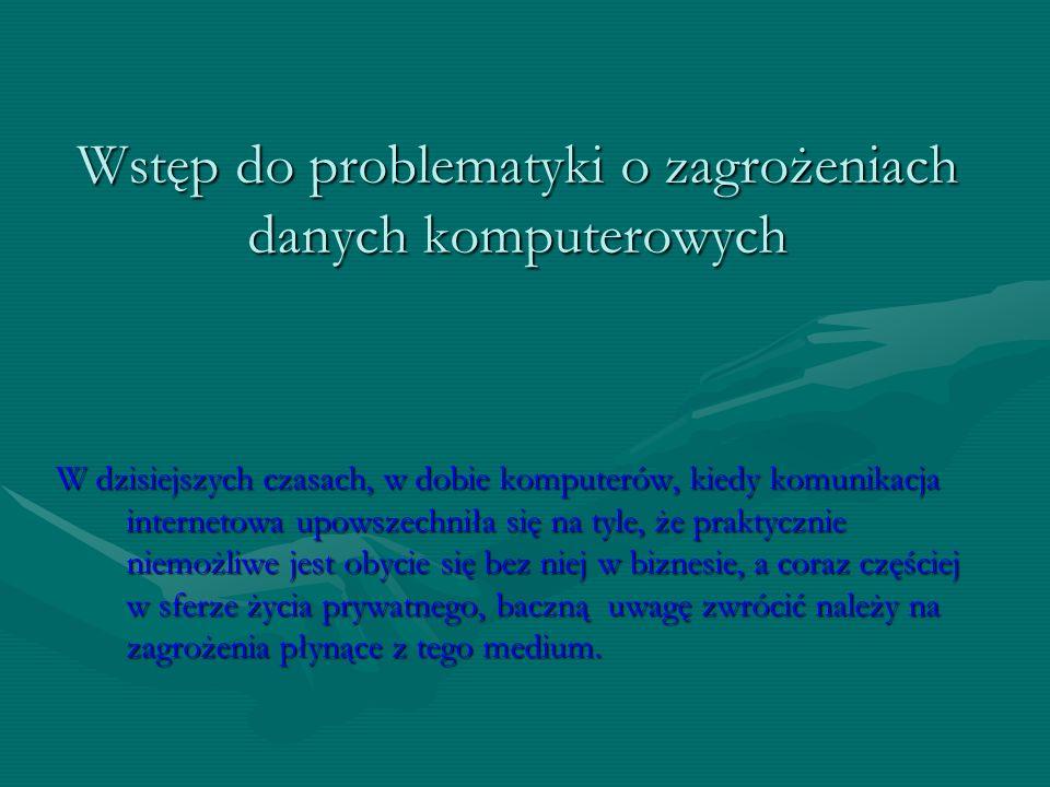Sposoby ochrony danych komputerowych przed destrukcyjnym działaniem szkodliwego oprogramowania pracę wykonał: Piotr Mosak kl.IIa Gimnazjum nr 1 Wołomi