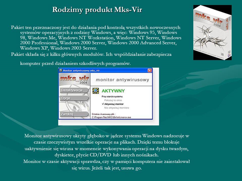 Norton AntiVirus 2005 Funkcje produktu: - Funkcja ochrony przed robakami internetowymi (Norton Internet Worm Protection) blokuje określone niebezpiecz