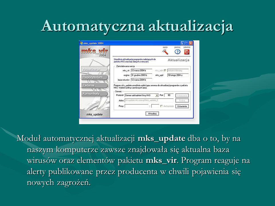 Skaner poczty Moduł mks_mail pozwala bezpiecznie korzystać z poczty elektronicznej. mks_mail współpracuje ze wszystkimi programami odbierającymi poczt
