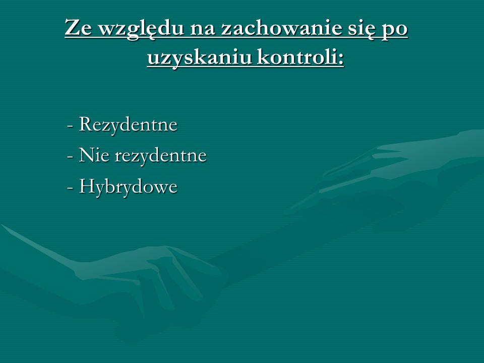 Podział Wirusów: Ze względu na sposób infekcji: -Dyskowe -Pasożytnicze (plikowe) -Towarzyszące -Sprzęgające -Hybrydowe