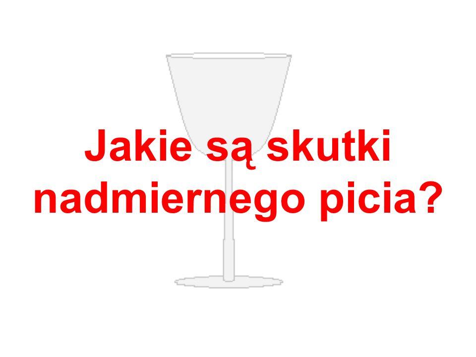 1. Nadużywanie alkoholu prowadzi do zatrucia organizmu.