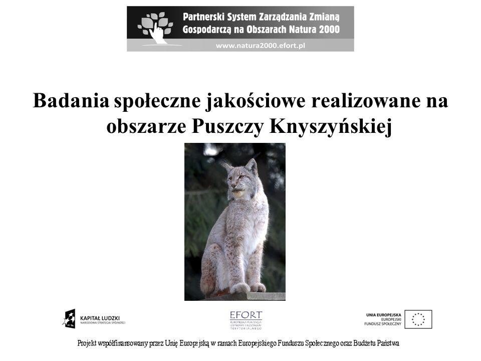Badania społeczne jakościowe realizowane na obszarze Puszczy Knyszyńskiej
