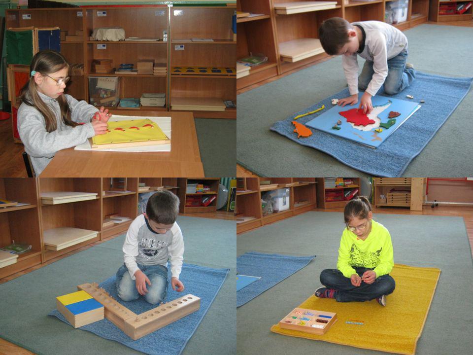 Zajęcia wspomagające metodą Montessori Cele te realizowane są poprzez pomoc dziecku w: rozwijaniu samodzielności i wiary we własne siły, wypracowaniu