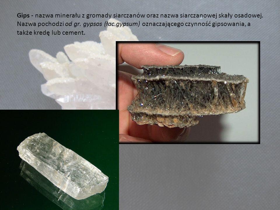 Gips - nazwa minerału z gromady siarczanów oraz nazwa siarczanowej skały osadowej. Nazwa pochodzi od gr. gypsos (łac.gypsum) oznaczającego czynność gi