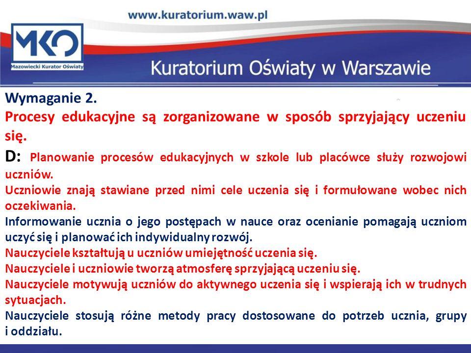 Delegatura w Płocku Wymaganie 2.