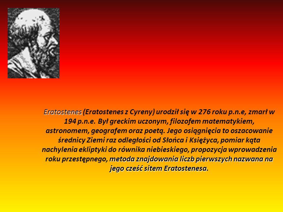 Zad.4 Wyszukajcie i zapoznajcie się z informacjami na temat sita Eratostenesa.