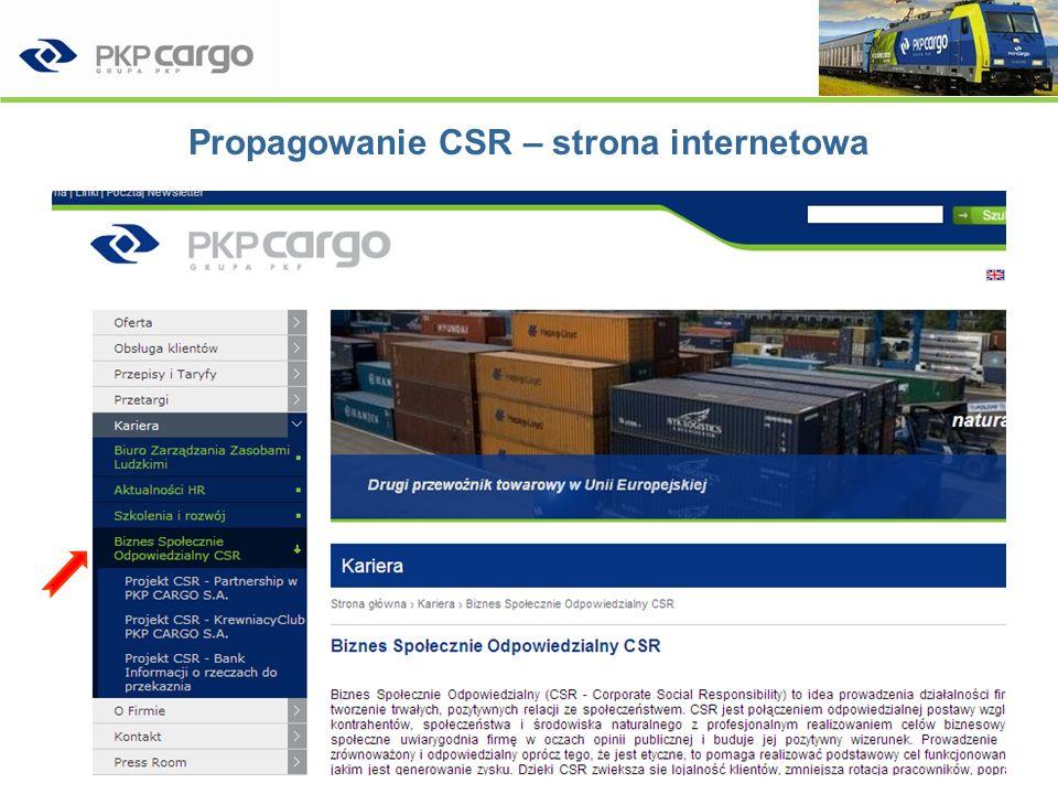 Sprawozdawczość z działań CSR w PKP CARGO SA Indywidualne spotkanie z FOB Analiza poziomu wdrażania CSR w firmie Partnerów Forum Odpowiedzialnego Biznesu –15 września 2008 Cel: –Informacje zwrotne od wyspecjalizowanego partnera po pierwszych 6 miesiącach wdrażania CSR Wdrażanie Biznesu Społecznie Odpowiedzialnego w PKP CARGO SA39