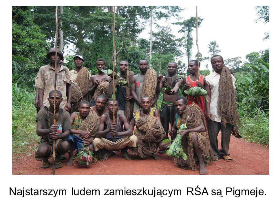 Najstarszym ludem zamieszkującym RŚA są Pigmeje.