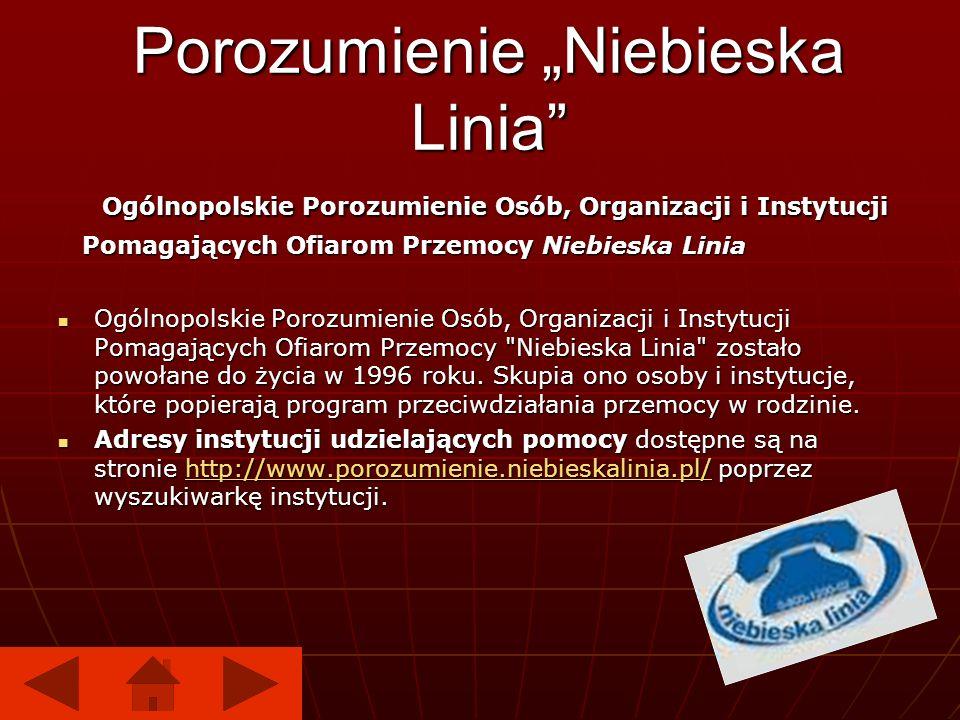 Porozumienie Niebieska Linia Ogólnopolskie Porozumienie Osób, Organizacji i Instytucji Ogólnopolskie Porozumienie Osób, Organizacji i Instytucji Pomag