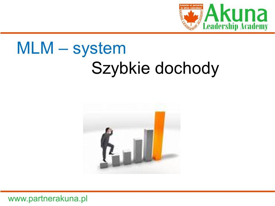 MLM – system Szybkie dochody