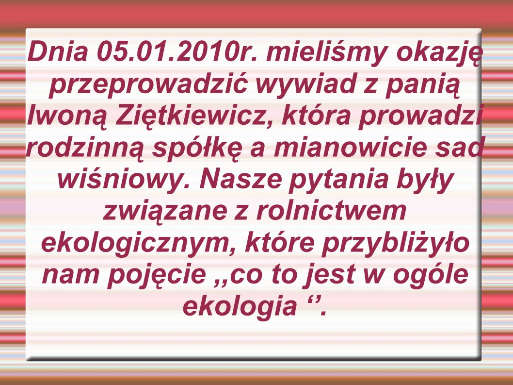Dnia 05.01.2010r.