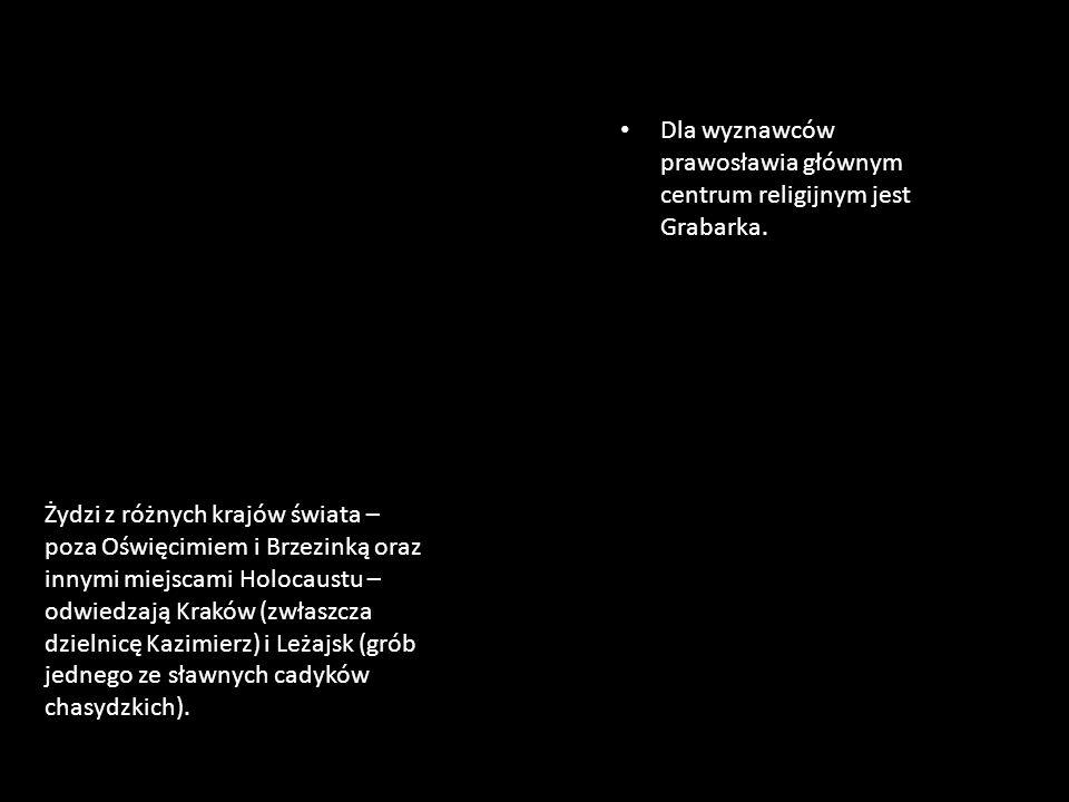 Żydzi z różnych krajów świata – poza Oświęcimiem i Brzezinką oraz innymi miejscami Holocaustu – odwiedzają Kraków (zwłaszcza dzielnicę Kazimierz) i Le