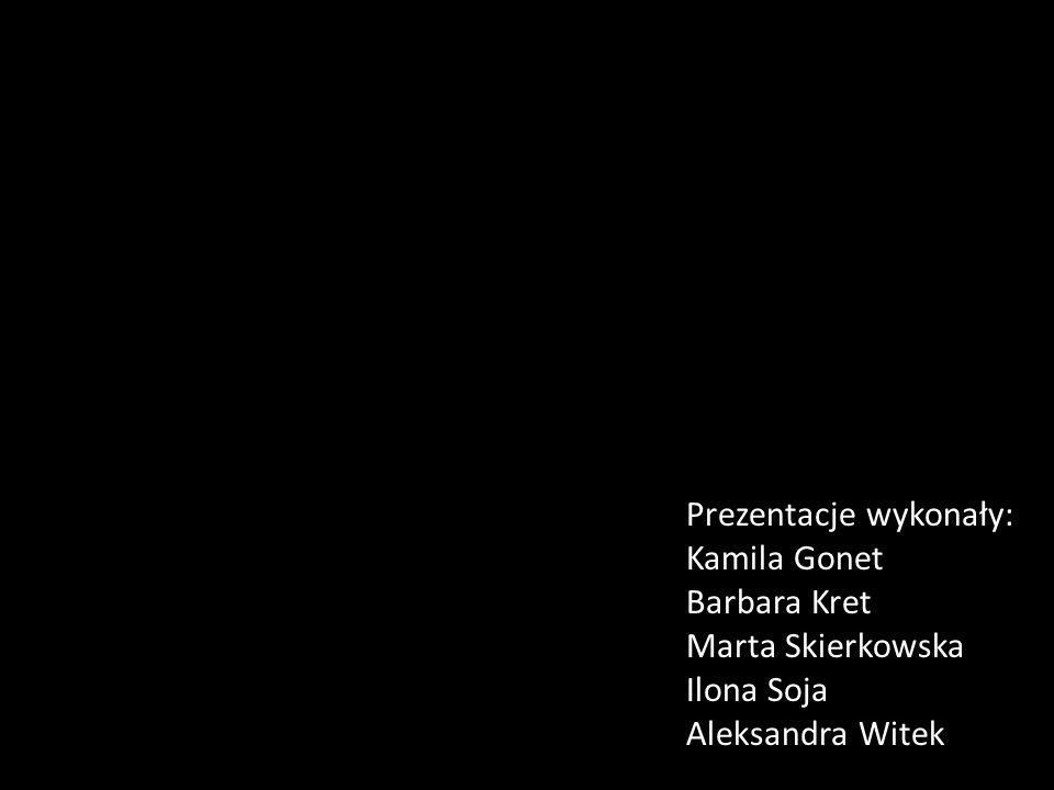 Prezentacje wykonały: Kamila Gonet Barbara Kret Marta Skierkowska Ilona Soja Aleksandra Witek