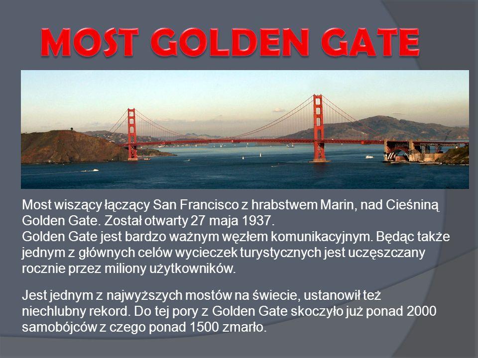 Jest jednym z najwyższych mostów na świecie, ustanowił też niechlubny rekord. Do tej pory z Golden Gate skoczyło już ponad 2000 samobójców z czego pon