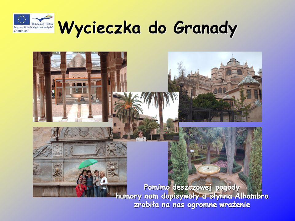 Wycieczka do Granady Pomimo deszczowej pogody humory nam dopisywały a słynna Alhambra humory nam dopisywały a słynna Alhambra zrobiła na nas ogromne wrażenie