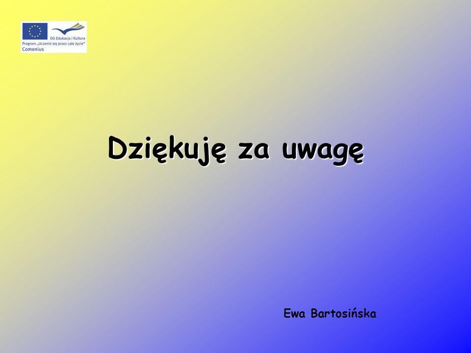 Dziękuję za uwagę Ewa Bartosińska