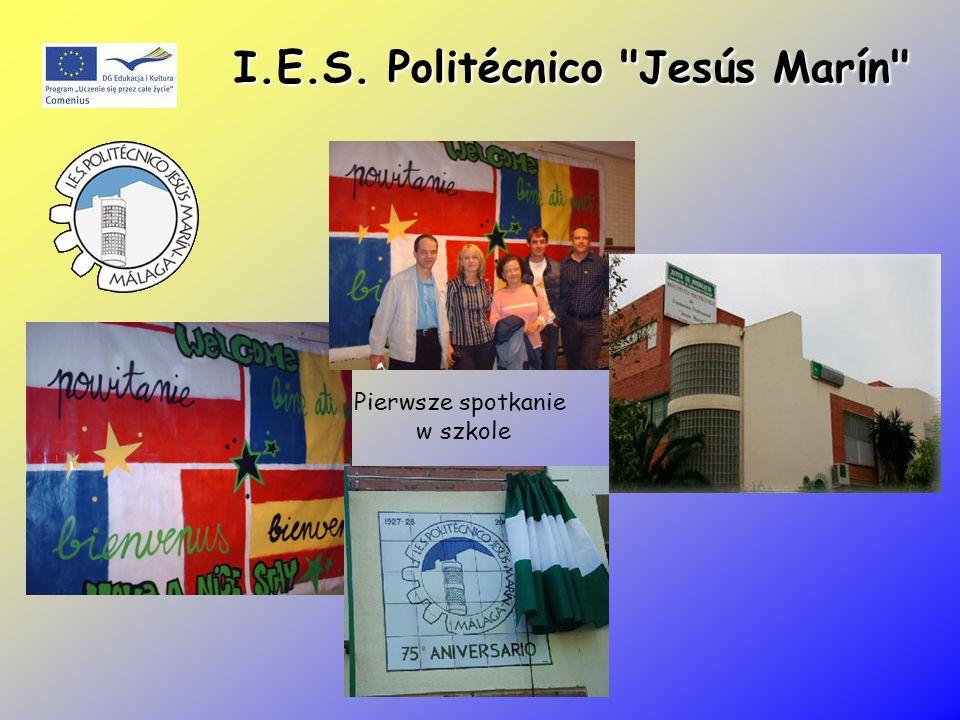 I.E.S. Politécnico Jesús Marín Pierwsze spotkanie w szkole