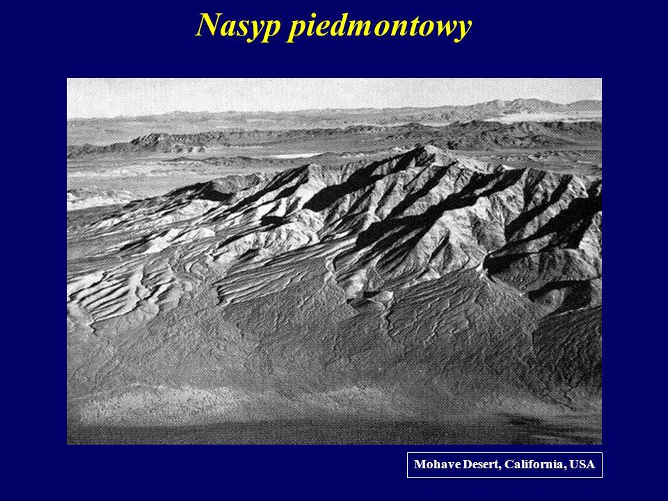 Nasyp piedmontowy Mohave Desert, California, USA