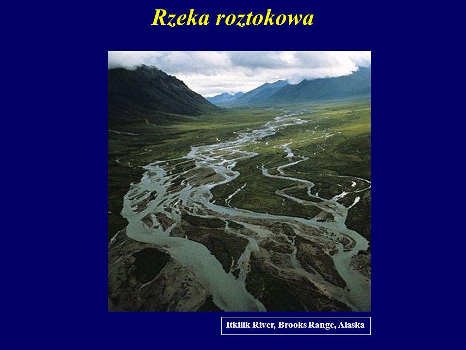 Rzeka roztokowa Itkilik River, Brooks Range, Alaska