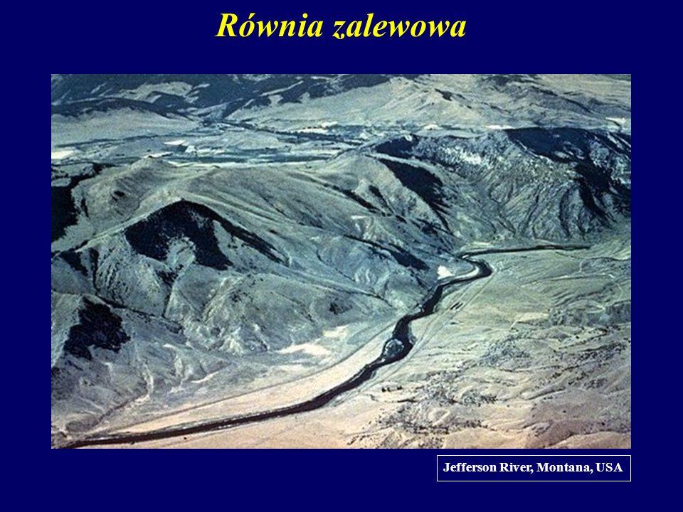Równia zalewowa Jefferson River, Montana, USA