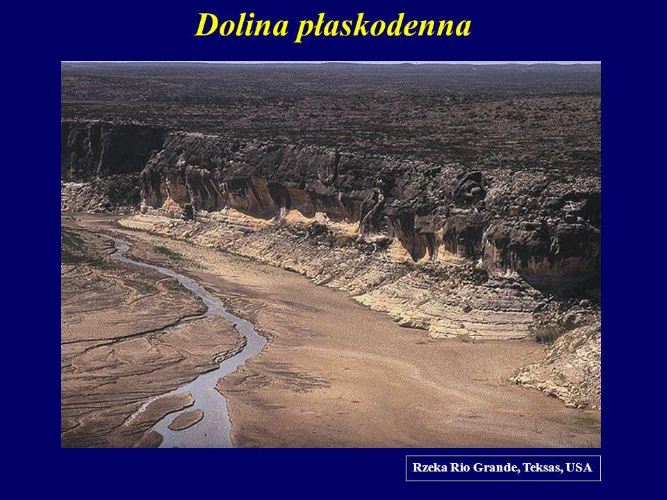 Dolina płaskodenna Rzeka Rio Grande, Teksas, USA