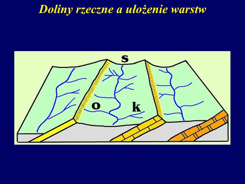 Doliny rzeczne a ułożenie warstw