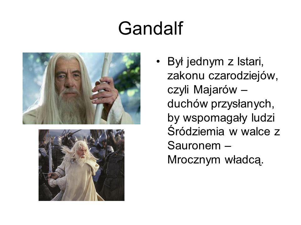 Gandalf Był jednym z Istari, zakonu czarodziejów, czyli Majarów – duchów przysłanych, by wspomagały ludzi Śródziemia w walce z Sauronem – Mrocznym wła