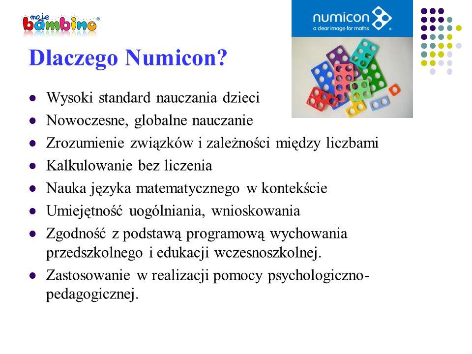 Dlaczego Numicon? Wysoki standard nauczania dzieci Nowoczesne, globalne nauczanie Zrozumienie związków i zależności między liczbami Kalkulowanie bez l