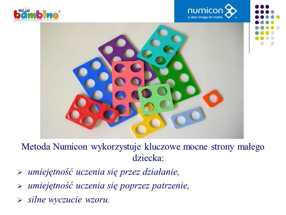 Metoda Numicon wykorzystuje kluczowe mocne strony małego dziecka: umiejętność uczenia się przez działanie, umiejętność uczenia się poprzez patrzenie,