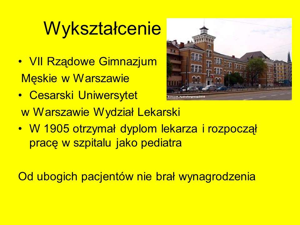 Wykształcenie VII Rządowe Gimnazjum Męskie w Warszawie Cesarski Uniwersytet w Warszawie Wydział Lekarski W 1905 otrzymał dyplom lekarza i rozpoczął pr