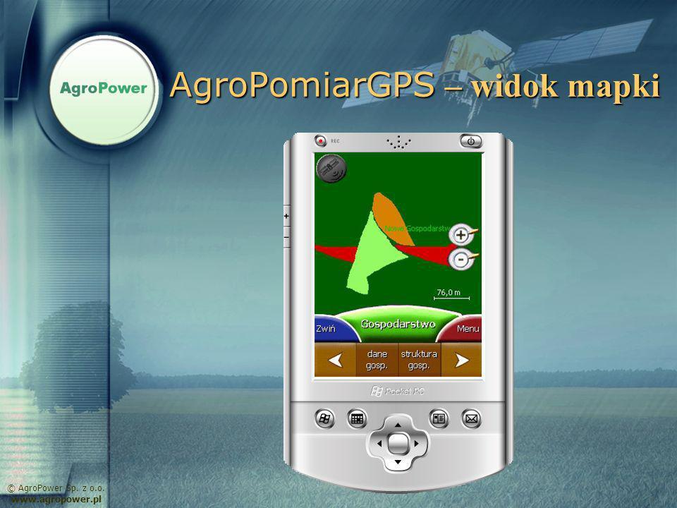 AgroPomiarGPS – widok mapki © AgroPower Sp. z o.o. www.agropower.pl