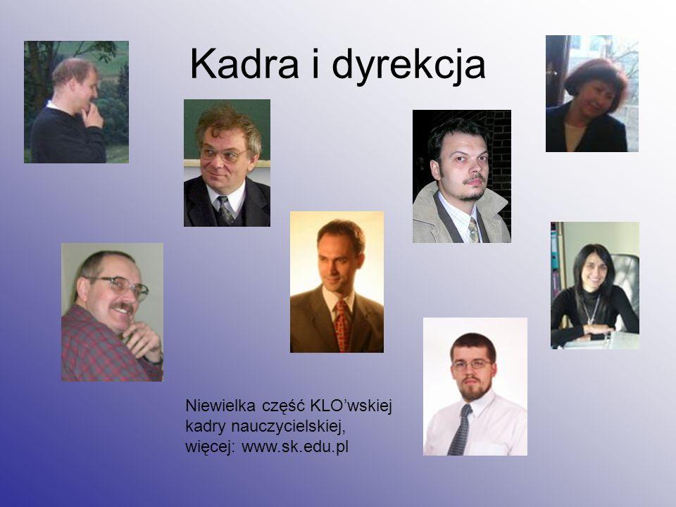 Niewielka część KLOwskiej kadry nauczycielskiej, więcej: www.sk.edu.pl Kadra i dyrekcja