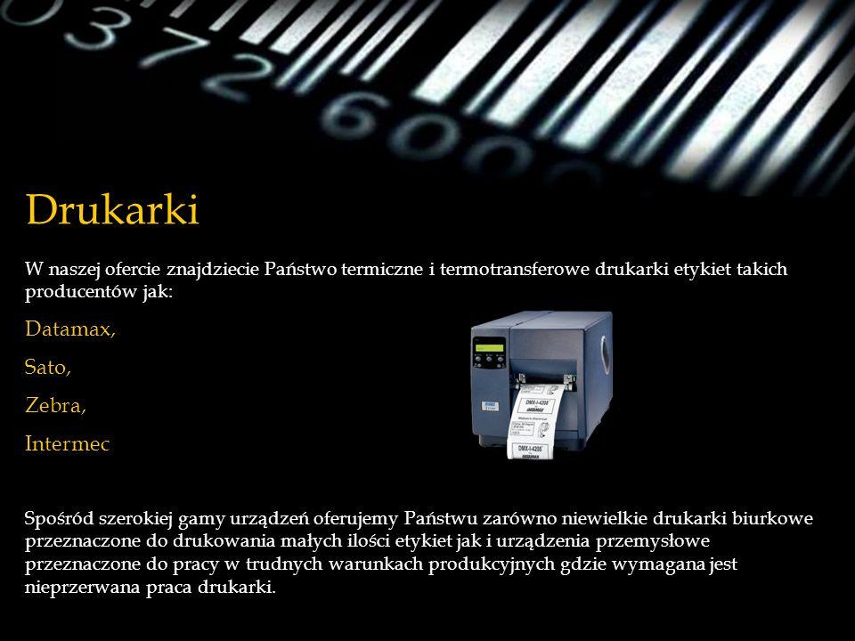 Drukarki W naszej ofercie znajdziecie Państwo termiczne i termotransferowe drukarki etykiet takich producentów jak: Datamax, Sato, Zebra, Intermec Spo