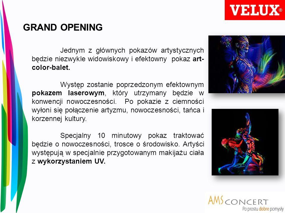 Jednym z głównych pokazów artystycznych będzie niezwykle widowiskowy i efektowny pokaz art- color-balet. Występ zostanie poprzedzonym efektownym pokaz