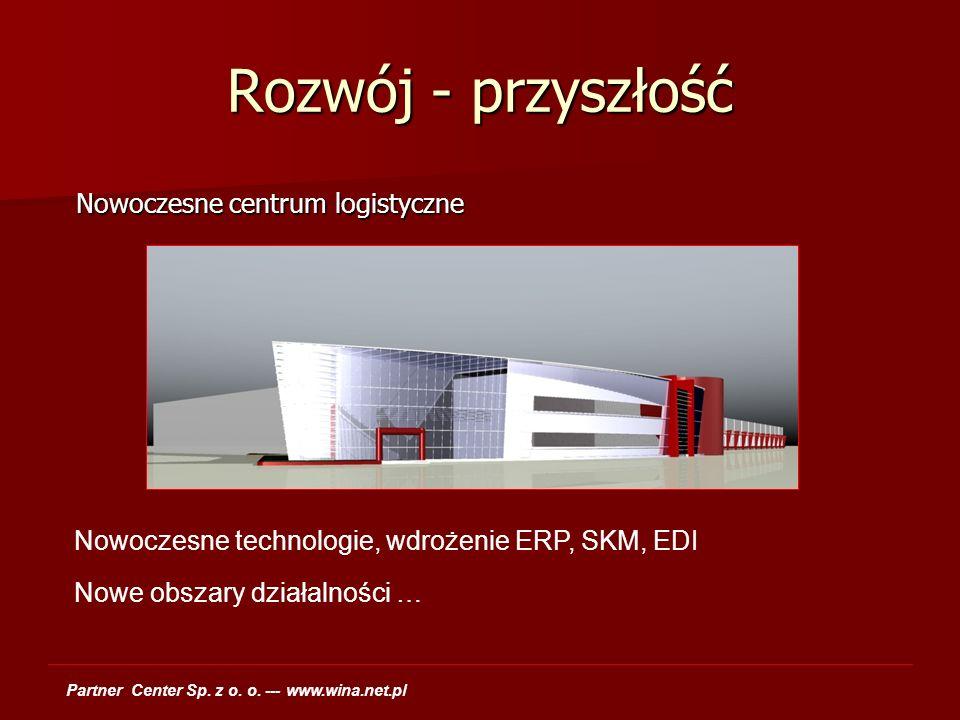 Rozwój - przyszłość Nowoczesne centrum logistyczne Nowoczesne centrum logistyczne Nowoczesne technologie, wdrożenie ERP, SKM, EDI Nowe obszary działal