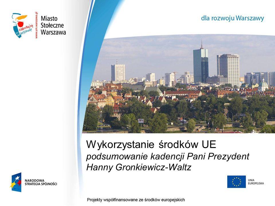 1 Wykorzystanie środków UE podsumowanie kadencji Pani Prezydent Hanny Gronkiewicz-Waltz