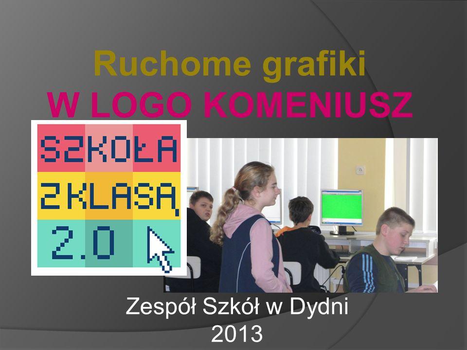 Ruchome grafiki LOGO KOMENIUSZ Szkoła z klasą 2.0 w sieci Internet - moderator