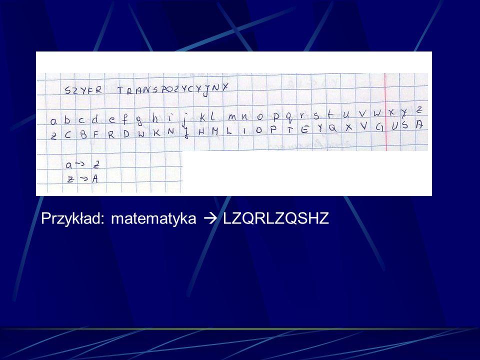 Przykład: matematyka LZQRLZQSHZ