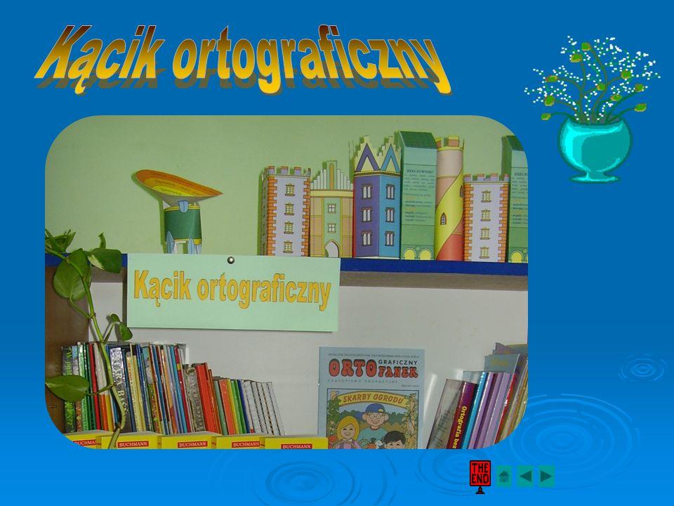 W kąciku mamy do dyspozycji: słowniczki ortograficzne, słowniczki ortograficzne, miesięczniki Franek, Ortofanek i Bunio, miesięczniki Franek, Ortofane